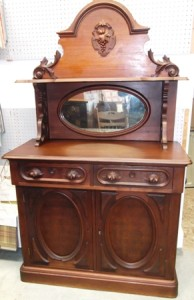 Victorian Era Sideboard walnut all original including mirror