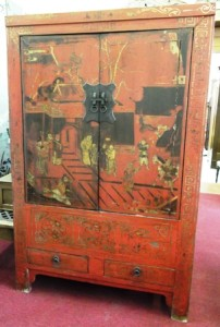 Chinese Wedding Cabinet w/ 2 Drawers