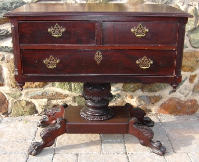 Regency Mahogany 3 Drawer Server